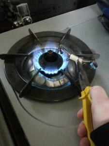 強火でじっくり加熱